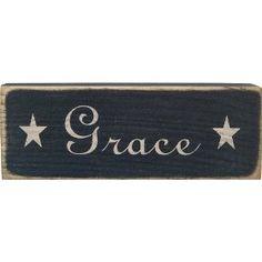 "Messenger Block ""Grace"" Country Rustic $8.99"