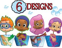 INSTANT DOWNLOAD - Bubble Guppies Cupcake Toppers & Wrappers - Printable Bubble Guppies Party