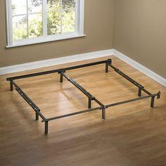 Zinus Compack Adjustable Steel Bed Frame, For Box Spring U0026 Mattress Set,  Fits Full