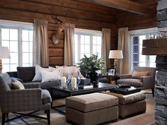 updated lodge style living rooms - Google Search