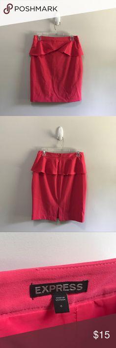 Express pink peplum pencil skirt Hot pink , kawaii , ruffles , pencil skirt , peplum Express Skirts Pencil