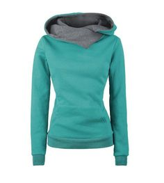 Cheap sudaderas mujer, Buy Quality collar sweatshirt directly from China solid hoodie Suppliers: 2018 Women Pullover Casual Solid Hoodies Turn-down Collar Sweatshirts Sudaderas Mujer Hoodie Sweatshirts, Pulls, Long Sleeve, Fashion Women, Style Fashion, Finders Keepers, High Collar, Collar Top, Gray Green