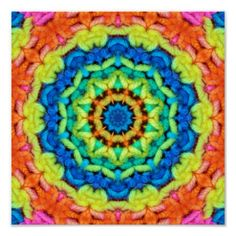 Sunny Day Kaleidoscope Digital Crochet Print