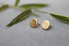 Simple Round studs, dainty gold round Earrings, Elegant earrings, Geometric Gold, 18k gold geometric earrings stud, nickel free earrings