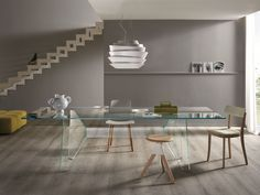 Claro Glass Dining Table - by Tonelli Design. Dining Table Design, Glass Dining Table, Modern Dining Table, Dining Tables, Italian Bedroom Furniture, Dining Room Furniture, Luxury Furniture, Table Extensible, Coffe Table