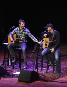 Dierks Bentley Photos Photos - Dierks Bentley (center) and John Randall Stewart perform during The Country Music Hall of Fame and Museum Presents an Interview and Acoustic Performance With Dierks Bentley and friends at the CMA Theater at the Country Music Hall of Fame and Museum on March 12, 2016 in Nashville, Tennessee. - The Country Music Hall of Fame and Museum Presents an Interview and Acoustic Performance with Dierks Bentley
