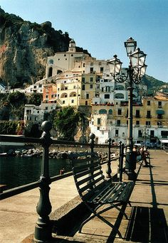 Italy, Amalfi waterfront by Sam Kay Exactly.  OUr hotel was in town