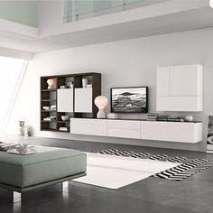 Perfekt Bei Dieser Modernen Und Hochwertigen Wohnwand C96B Von Livitalia Können Die  Elemente Nach Ihrem Wunsch Angeordnet
