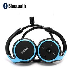 Suicen AX-610 Neckband Wireless Bluetooth V2.1+EDR Stereo Headset with Microphone - Blue