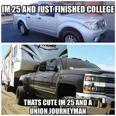 And no school loans, how bout that. Lineman Love, Power Lineman, Lineman School, Journeyman Lineman, School Loans, Airborne Ranger, Barndominium Plans, Love And Co, Future Jobs