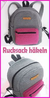 Crochet Backpack patterns afghan patterns crochet patterns afghan scarf blanket A great tutorial to learn how to crochet this school backpack. A great tutorial to learn how to crochet this school backpack. Crochet Diy, Learn To Crochet, Crochet Crafts, Crochet Projects, Tutorial Crochet, Crochet Bag Tutorials, Sewing Projects, Crochet Ideas, Crochet Handbags
