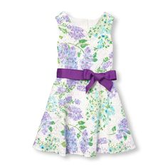 Girls Sleeveless Floral Print Lace Dress | The Children's Place CA