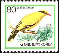 Black-naped Oriole stamps - mainly images - gallery format