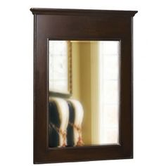 Belle Foret BF80018 Espresso Single Vanity Mirror
