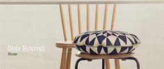 Cojín de algodón orgánico Star Round Cushion Rose de ferm LIVING. Ideal para tu hogar. #decoration, #decoracion, #fermLIVING, #cushion, #cojin, #interiorismo #estiloescandinavo #estilonordico #algodon #organicCotton.