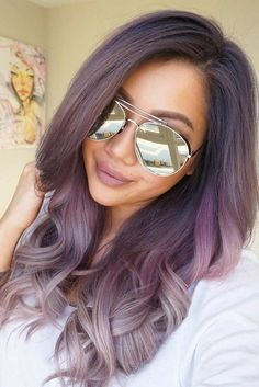 Wavy Hair with Purple Color picture2