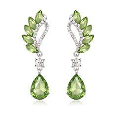 Reinston Luxury Crystal Dangle Earrings (69 SEK) ❤ liked on Polyvore featuring jewelry, earrings, green, jewelry & watches, long earrings, crystal jewellery, long crystal earrings, green crystal earrings and green dangle earrings