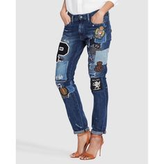 810d4bd162e6 Polo Ralph Lauren women s ripped skinny jeans with patches · Polo Ralph  Lauren · Fashion · El Corte Inglés