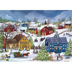 Masterpieces Heartland Puzzle We're Home with The Tree Bonnie White 1000 Pcs | eBay