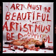 Marina Abramovic // Art Must be Beautiful, Artist Must be Beautiful // 1975 // Performance Art
