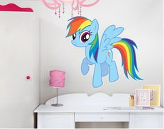 My little Pony - Rainbow Dash (wall decal - multicoloured)