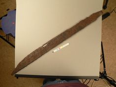 85cm long blade, edge is the curving side