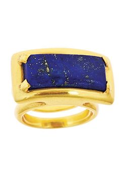 If you're looking for a classic accessory that goes with absolutely anything, look no further, this rectangular ring with or without stone is your ticket. Weighty and substantial, yet comfortable, it will take you from day to evening without a hitch.    Mondrian Ring Lapis by Julie Collection. Accessories - Jewelry - Rings Alexandria, Virginia
