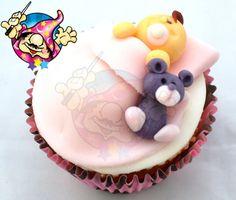 Dicas Mago: Cupcake Colorido e Bebê dormindo