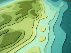 Topographical art card.