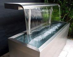 wasserspiel cortenstahl wasserfall 90 im edelrost design inkl, Garten und erstellen