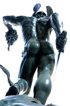 """Perseus"", Benvenuto Cellini, Bronze sculpture of Perseus with the head of Medusa on a square base with bronze relief, on show in the Bargello, Florence. Pablo Picasso, Art Sculpture, Sculpture Garden, Bronze Sculpture, Art For Art Sake, Gay Art, Renaissance Art, Oeuvre D'art, Erotic Art"