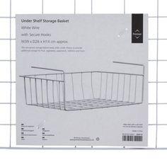 Premier Housewares Under Shelf Storage Basket - 39 cm - White: Amazon.co.uk: Kitchen & Home