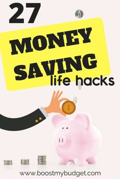AWESOME life hacks to save money! Whether you're already into frugal living or you simply need some fresh ideas to save money for a house, these money saving hacks will show you how to slash your budget pain-free! #moneysaving #savemoney #lifehacks #budget #frugal