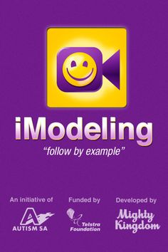 iModeling app allows you to create videos to teach skills to a person who is a visual learner.