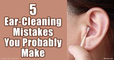 Read these 5 ear cleaning mistakes that you might not be aware of, and find out how you can remove your earwax safely. http://articles.mercola.com/sites/articles/archive/2016/04/09/ear-cleaning-mistakes.aspx