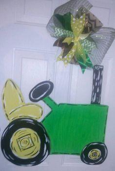 Tractor Door Hanger by WhatShesDoingNow on Etsy