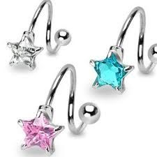 star belly button rings