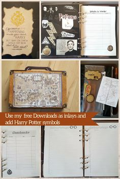 DIY Harry Potter Planer - Filofaxing step-by-step | the blossom's place
