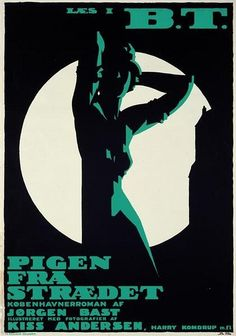 BySven Brasch (1886-1970),Danish poster designer  Advert for a novel published in a tabloid newspaper.