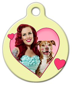 Smoochy-Poochie Pinup Dog Tag from the Pinups for #Pitbulls collection.