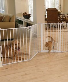 Beige Configurable Extra-Wide Pet Gate