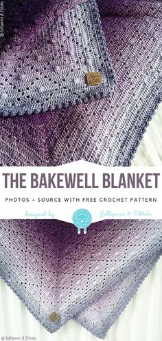 The Bakewell Blanket Free Crochet Pattern - Knitting Bordado - Maria S. - The Bakewell Blanket Free Crochet Pattern - Knitting Bordado The Bakewell Blanket Free Crochet Pattern Afghan Crochet Patterns, Crochet Shawl, Crochet Stitches, Knitting Patterns, Knit Crochet, Free Knitting, Knitting Ideas, Crochet Afghans, Craft Patterns