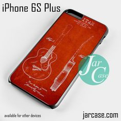 gretxch guitar patent red drawing Phone case for iPhone 6S Plus and other iPhone devices