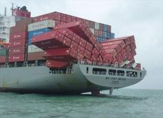 Container ship...
