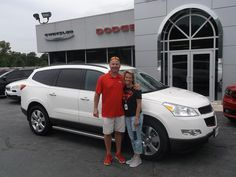 SUSAN AND DAVID's new 2012 TRAVERSE CHEVROLET! Congratulations and best wishes from Jay Hatfield CDJR and TIM WEATHERMAN.