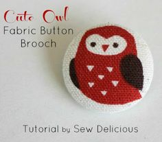 How to Make a Fabric Button Brooch - Tutorial