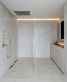 As Tadelakt is water repellent there's absolutely no demand for tiling etc. Tadelakt is incredibly versatile and may be used in a lot of means. Tadelakt not on. House Bathroom, Interior, Modern House Design, Shower Room, Bathroom Interior, Minimalist Bathroom, Modern Interior Design, Bathrooms Remodel, Bathroom Decor