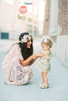 A precious moment between #bride and #flowergirl! For more flower girl tips, tricks, inspiration and ideas, visit us at www.flowergirlworld.com!