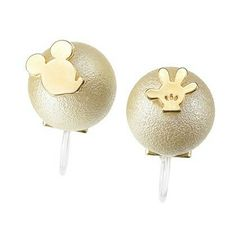 Mickey Mouse Pearl Earrings