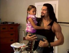Joe Anoa'i aka Roman Reigns with his adorable daughter Joelle
